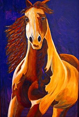 Poster featuring the painting Contemporary Horse Painting Painted Sensation by Jennifer Godshalk