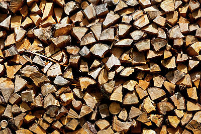 Cord Wood Texture Poster by Charles Lupica
