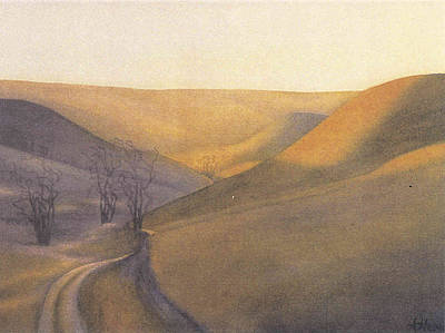 Coulee Sunset Poster by Anne Havard