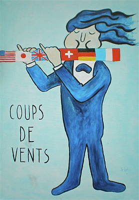 Poster featuring the painting Coup De Vents by Sheep McTavish