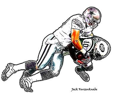 Dallas Cowboys Sean Lee - New York Jets Santonio Holmes Poster
