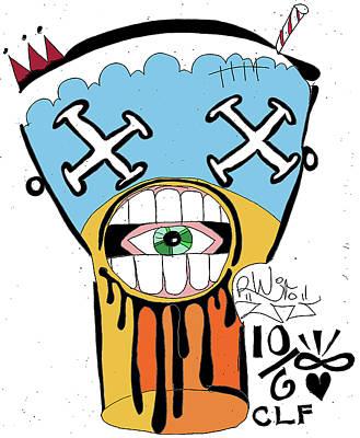 Drool Shake Poster by Robert Wolverton Jr