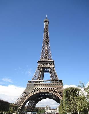 Eiffel Tower Tarped Ix Paris France Poster
