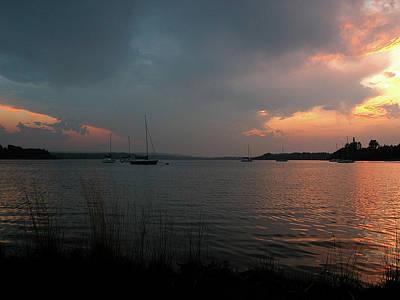 Glenmore Reservoir - Sunset 3 Poster by Stuart Turnbull