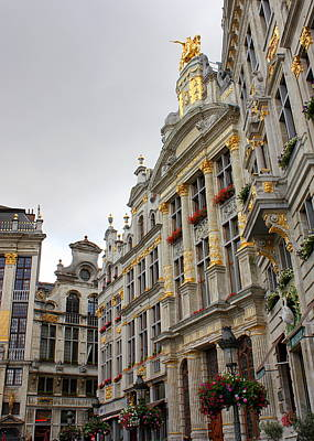 Golden Grand Place Poster by Carol Groenen