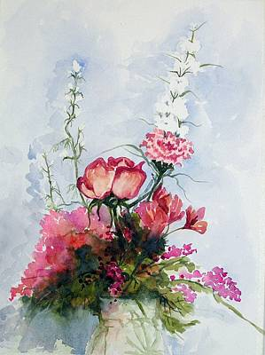 Poster featuring the painting Goodbye Bouquet  by Pat Crowther