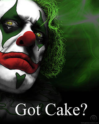 Poster featuring the digital art Got Cake by Jeremy Martinson
