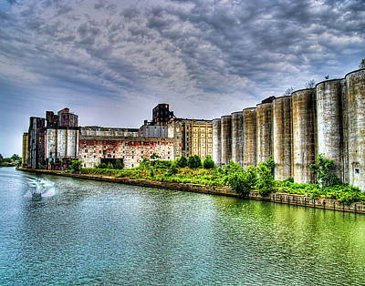 Grain Silos On The Buffalo River Poster by Tammy Wetzel