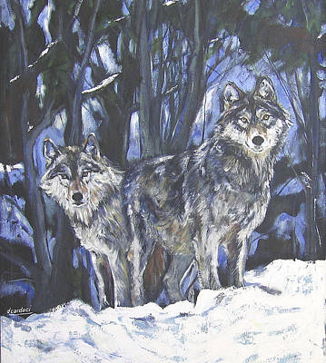 Grey Wolves Poster by Debora Cardaci