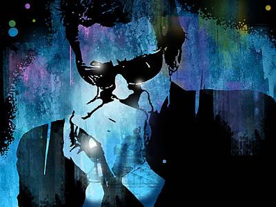 Harmonica Blues Poster