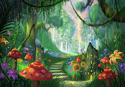 Hidden Treasure Version 2 Poster by Philip Straub