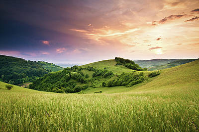 Kaiserstuhl Sunset Poster by Photo by Steffen Egly