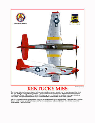 Kentucky Miss Poster by Jerry Taliaferro