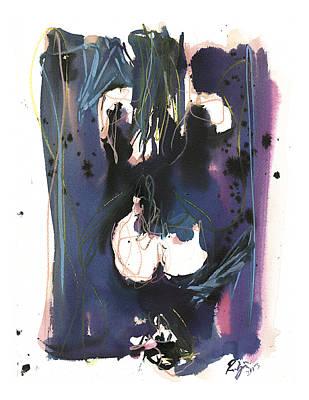 Poster featuring the painting Kneeling by Robert Joyner
