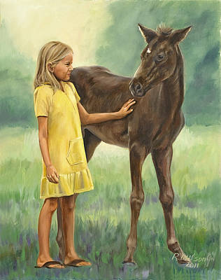 Poster featuring the painting Let's Be Friends by Karen Wilson