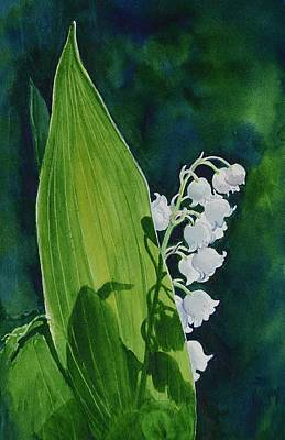 Poster featuring the painting Lily Of The Valley by Margit Sampogna