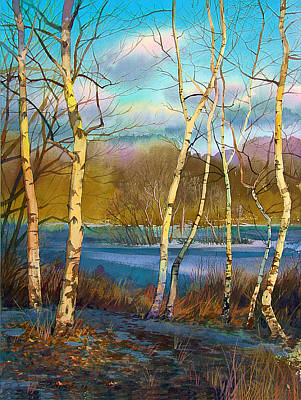 March. Birches Poster by Sergey Zhiboedov
