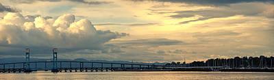 Mare Island Bridge And Cloudscape Poster