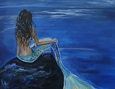 Mermaid Enchantment Poster by Leslie Allen