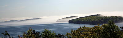 Poster featuring the photograph Morning Mist In Acadia by Greg DeBeck