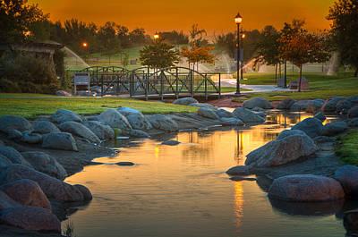 Morning Sunrise In The Park Poster