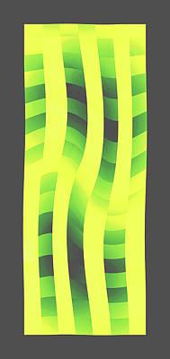 Moveonart Yellowlimegreenwave Poster by Jacob Kanduch