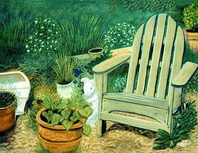 My Garden Chair Poster by Jan Amiss