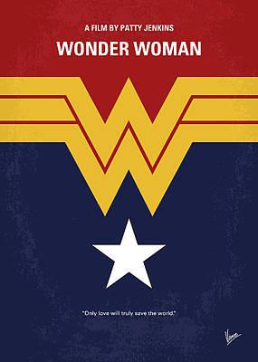 No825 My Wonder Woman Minimal Movie Poster Poster