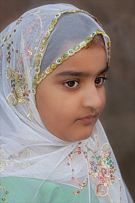 Pakistani Day Parade 7 31 11 Nyc Pakistani Girl Poster by Robert Ullmann