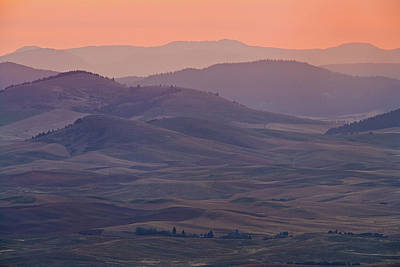 Palouse Morning From Steptoe Butte Poster