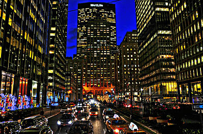 Park Avenue At Night Poster