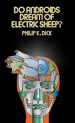Philip K Dick - Electric Sheeps Poster by Tomas Raul Calvo Sanchez