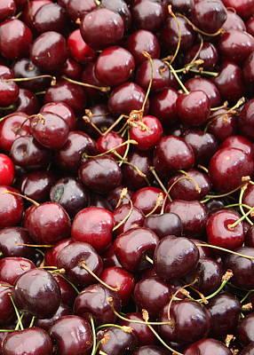 Pile Of Cherries Poster
