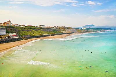 Plage De La Cote Des Basques, Biarritz, Aquitaine, Poster