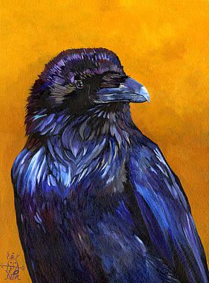 Raven Poster by J W Baker