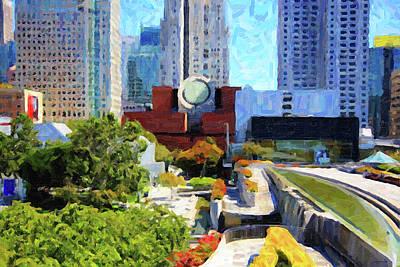 San Francisco Museum Of Modern Art Viewed Through Yerba Buena Gardens Poster
