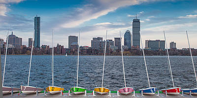 Skyline Sailboats Poster