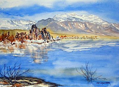 Poster featuring the painting South Tufa by Pat Crowther