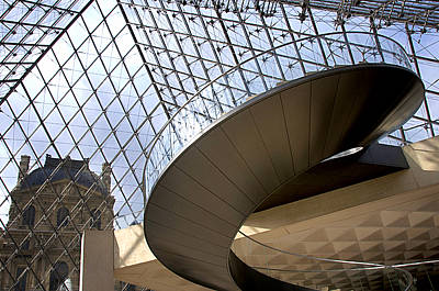 Stairs In Louvre Museum. Paris.  Poster by Bernard Jaubert