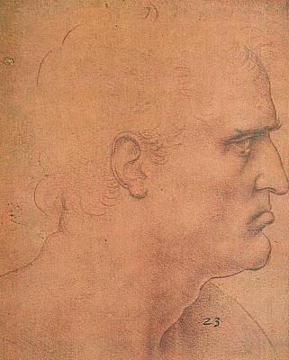 Study For The Last Supper, Apostle Bartholomew Poster by Leonardo da Vinci