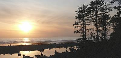 Sun Down At  Kalaloch Poster by Terri Thompson