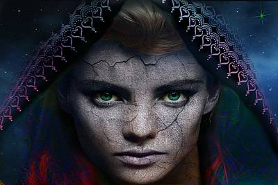 Poster featuring the digital art The Eye Of The Soul by Shadowlea Is