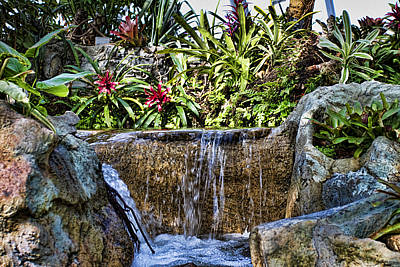 Tropical Waterfall Poster by Ricky Barnard
