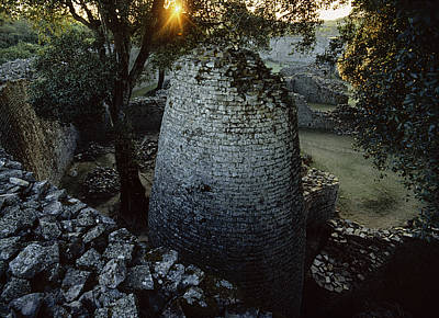View Of The 8th Century Conical Tower Poster