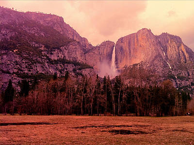 Yosemite Falls View Poster by Denise Taylor