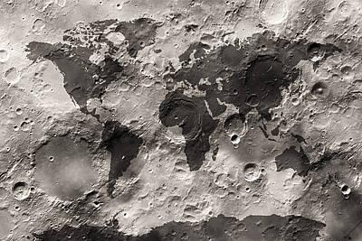 Craters Digital Art Prints