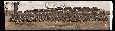 American Troops, 463 Motor Truck Co Art Print