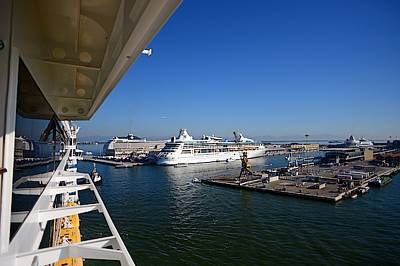 Basilio Photograph - Arriving On A Cruise Ship At Port by Nano Calvo