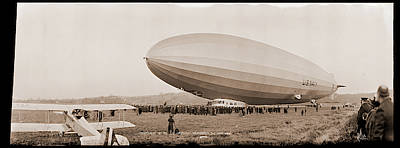 Inflatable Photograph - Christening Of The Los Angeles by Fred Schutz Collection
