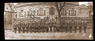 Troops In Front Of Hdqrs. 3rd Corps Art Print by Fred Schutz Collection